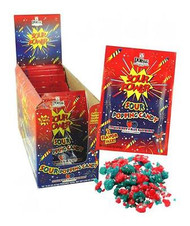 Sour Popping Candy Strawberry & Blueberry 18 ct.
