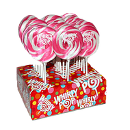 "3"" Whirly Lollipops Hot Pink & White 12 Count 1.5oz"