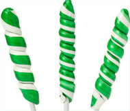 9 inch Twist Whirly Lollipops 12 Count 1oz Green & White