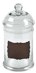 Glass Chalkboard Candy Jar