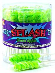 Color Splash Lollipops Green Apple 6 Pack/CASE