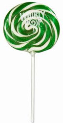 "3"" Whirly Lollipops Green 12 Count 1.5oz"