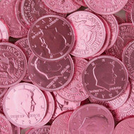 Chocolate Coins 1 Pounds (lb) Pink