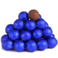 Chocolate Foil Marble Balls Royal Blue 1.5 Pounds