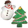 > Full Snowman & Large Christmas Tree