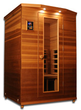 Clearlight Premier IS-2 Cedar Infrared Sauna - 2 Person