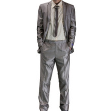 Figlio Lontano Slim-Fit Suit - Light Brown with Brown Trim