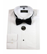 Amanti Convertible Cuff Tuxedo WinTip Dress Shirt (with Bow Tie)