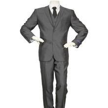 Figlio Lontano 3 Piece Slim Fit Suit - Charcoal