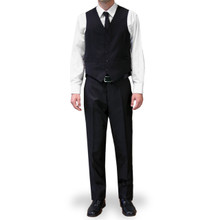 Dolce Vita 3 Piece Fashion Fit Suit - Black