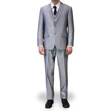 Figlio Lontano 3 Piece Slim Fit Suit - Silver
