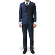 Figlio Lontano 3 Piece Slim Fit Suit - Midnight Blue