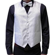 Amanti Men's 4pc Set Paisley Tuxedo Vest White