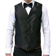 Amanti Men's 4pc Set Solid Tuxedo Vest Black