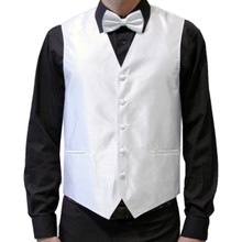 Amanti Men's 4pc Set Solid Tuxedo Vest White