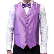 Amanti Men's 4pc Set Solid Tuxedo Vest Dustyvoilet