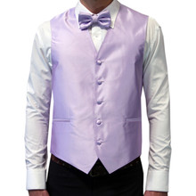 Amanti Men's 4pc Set Solid Tuxedo Vest Lilac