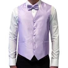 Amanti Men's 4pc Set Solid Tuxedo Vest Lilac