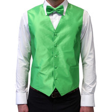 Amanti Men's 4pc Set Solid Tuxedo Vest Apple Green