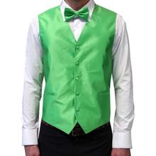 Amanti Men's 4pc Set Solid Tuxedo Vest Apple Green