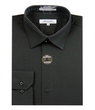 Amanti Slim Fit Convertible Cuff Dress Shirt (8 Colors)