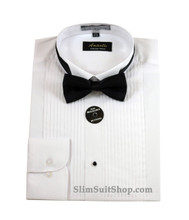 Amanti Convertible Cuff Tuxedo Dress Shirt (Optional Bow Tie)