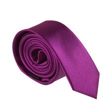 Amanti Italian Style Skinny Tie Purple