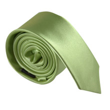Amanti Italian Style Skinny Tie Kiwi