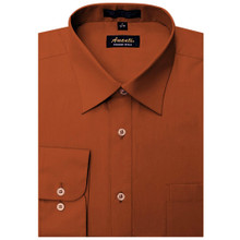 Amanti Rust Color Dress Shirt