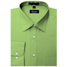 Amanti Apple Green Color Dress Shirt