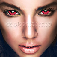 Red Mad Hatter 17mm Mini-Sclera Contact Lenses