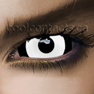 White Dracula 22mm Sclera Contact Lenses