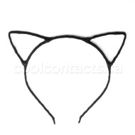 Cat Ears Metal Headband rapped With Black Fabric