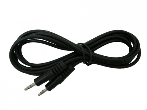 1 foot Audio Cable, Stereo 3.5mm-3.5mm Male to Male