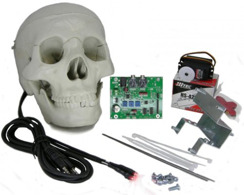 components of the st 400 skull kit - Talking Skull Halloween