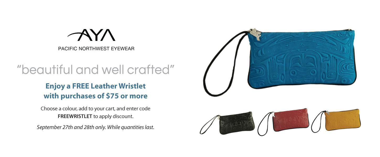 Free Leather Wristlet