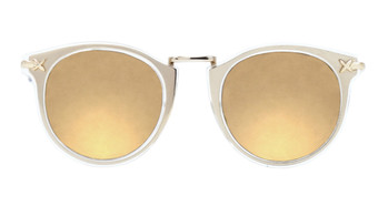 Clear with Gold Inlay and Diamond Gold Mirror Lenses