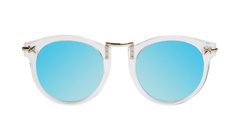 Crystal Clear with Blue Revo Mirror Lenses