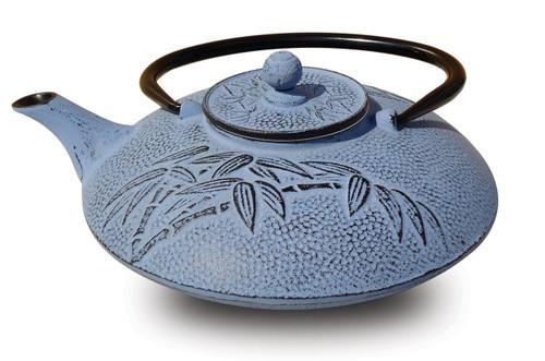 Cast Iron Blue Bamboo Teapot