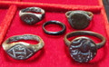 Lot of 5 Ancient Roman/Byzantine Rings