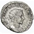 Macrinus AR Antoninianus, RARE, AVF/F, 217 C.E.