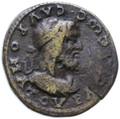 Sauromates II, Kings of Bosporus AE Double ( 2 ) Denarius