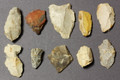 TEN Prehistoric Stone Age Flintstone tools
