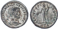 Diocletian Silvered Follis, EF, Heraclea Mint, 297/298 C.E.