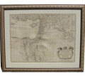 Antique Very Large Imposing Map of Palestine - The Promised Land at the time of David and Solomon, Blair 1768, Custom frame with museum grade matting