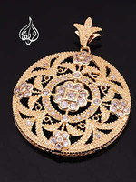 circle pendant gold