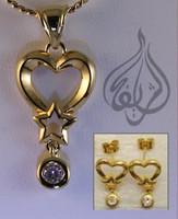 Heart Shape Set - Gold