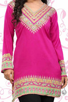 V-neck Tunic - Fuschia