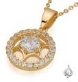 Star themed gold pendant