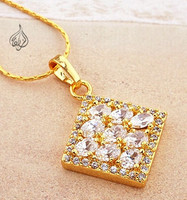 Beautiful Gold Pendant - Diamond Shaped